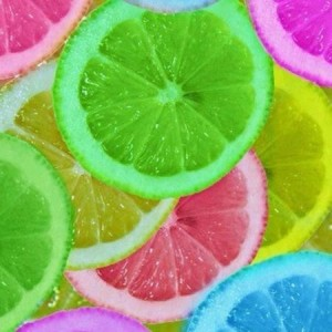 colored lemons